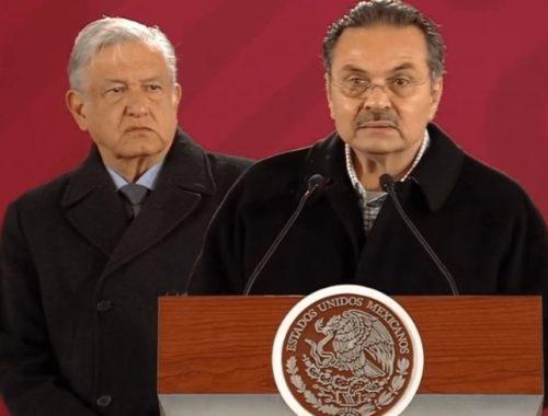 AMLO y Octavio Romero Oropeza