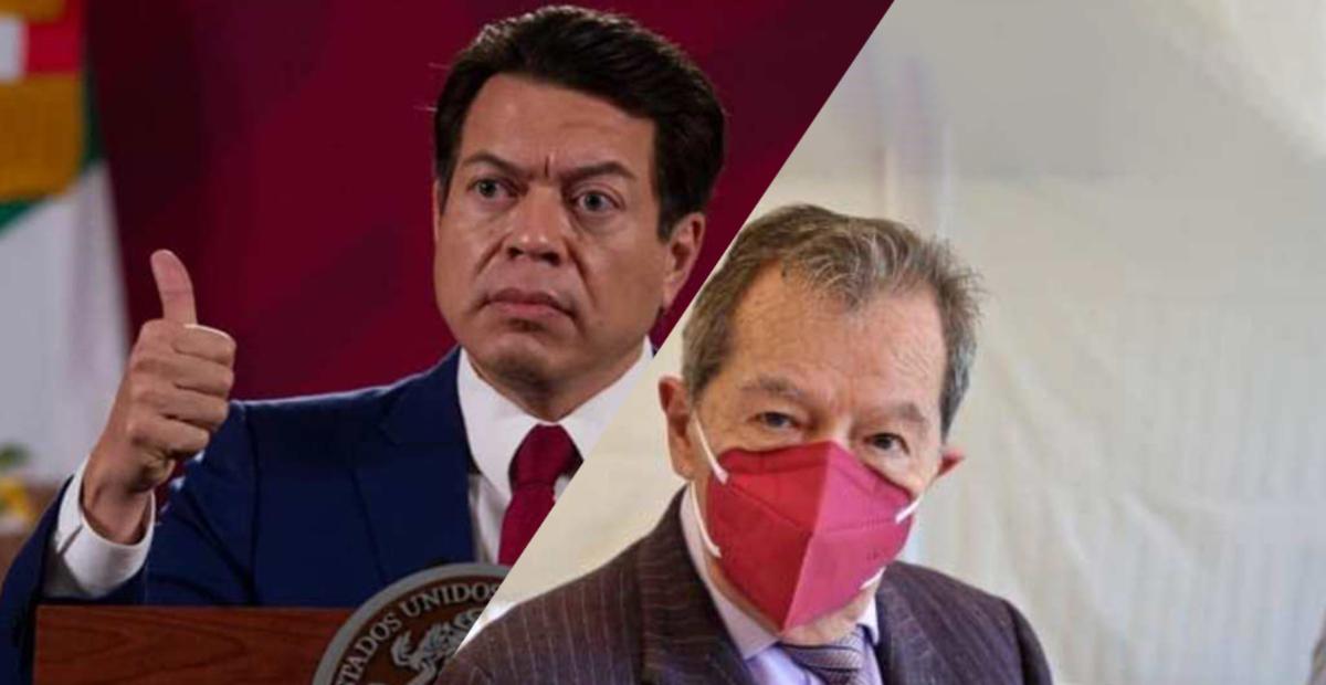 Mario Delgado y Porfirio Muñoz Ledo